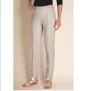 Soft surroundings. Ponte knit stretchy trouser